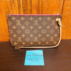 Louis Vuitton Monogram Peony Neverfull MM Pouch